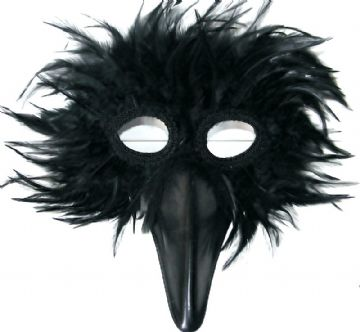 Black Bird feathered Mask